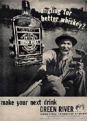 Green River Whiskey Advertisement -- Angling for Better Whiskey?